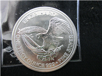 Englehard 1985 American Prospector One Ounce Pure Silver 999+ Medal
