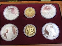 6 Coin Olympic Proof Set with two $10 Gold Coins  (US Mint, 1983 1984)