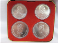 Montreal Olympics XXI Olympiad 4-Coin Uncirculated Set Silver Series III (Royal Candian Mint, 1976)