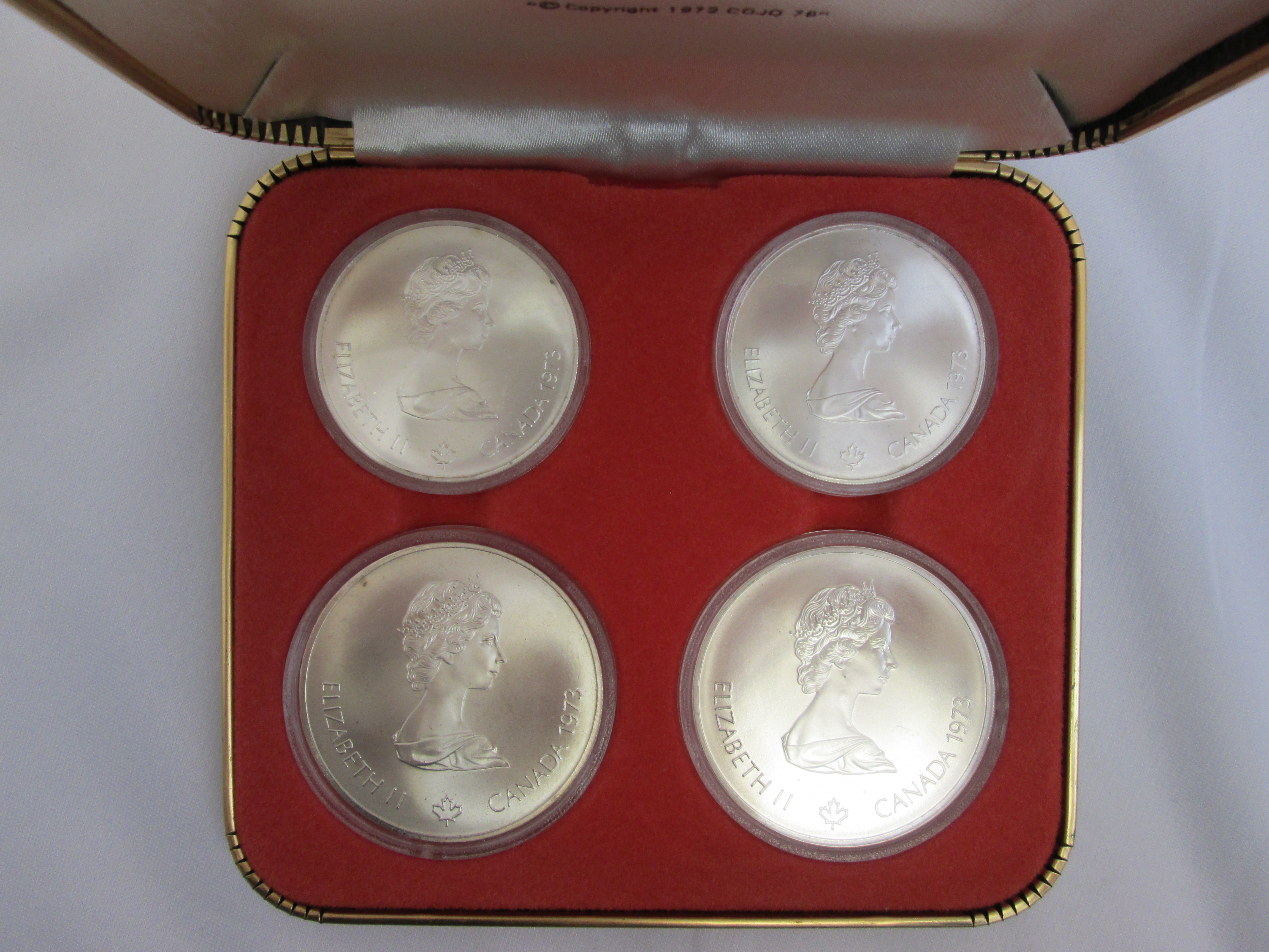 Montreal Olympics Xxi 4 Coin Uncirculated Set Silver