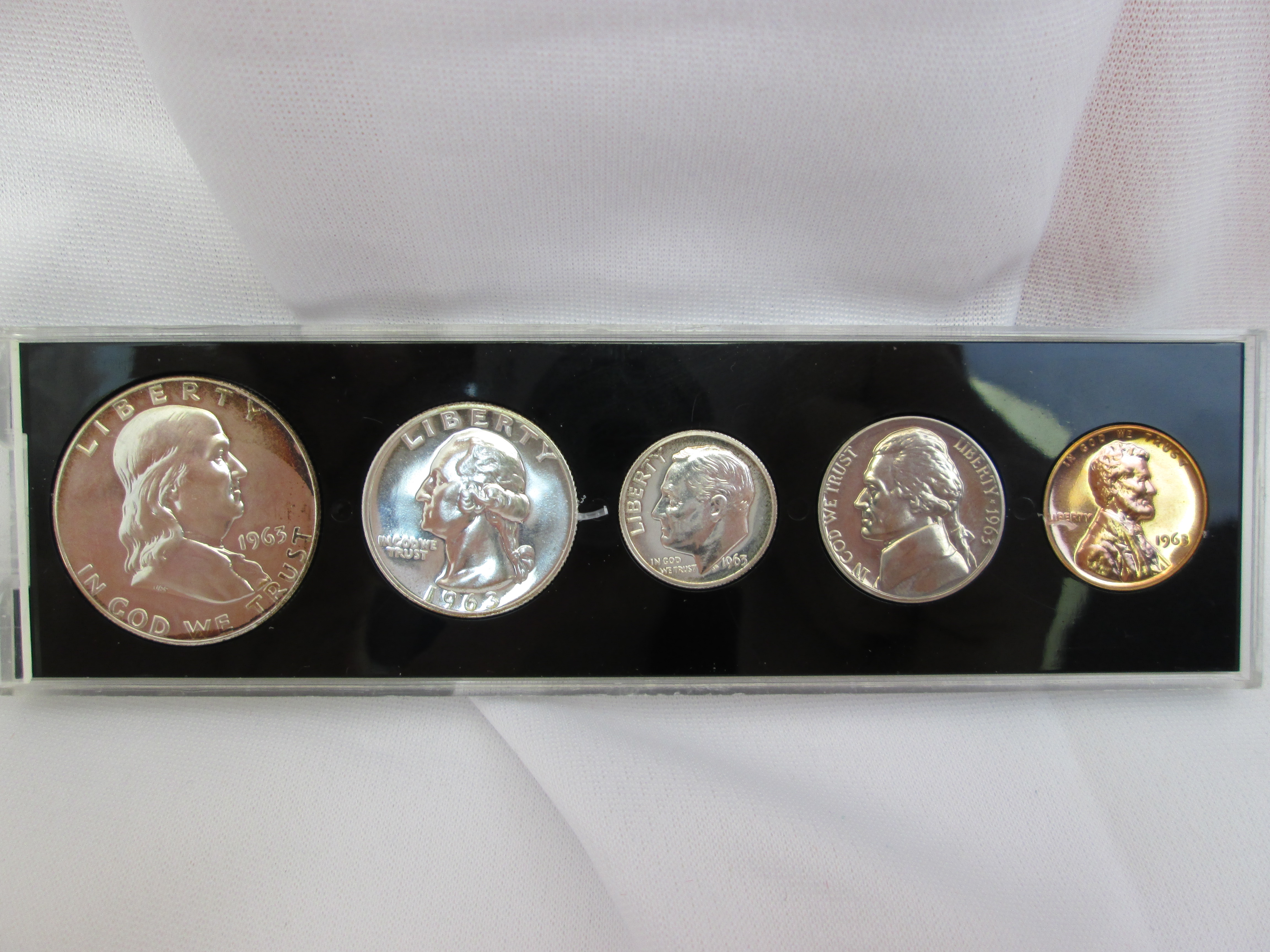 5 Coin Special Mint Silver Proof Set In Capitol Holder Us