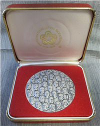 Presidential Commemorative Silver Medal by Karen Worth (ARBA, 1976)