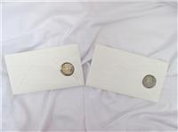 Final Susan B. Anthony Dollar 2 Coins Postal Commemorative Set  (US Mint, 1999)