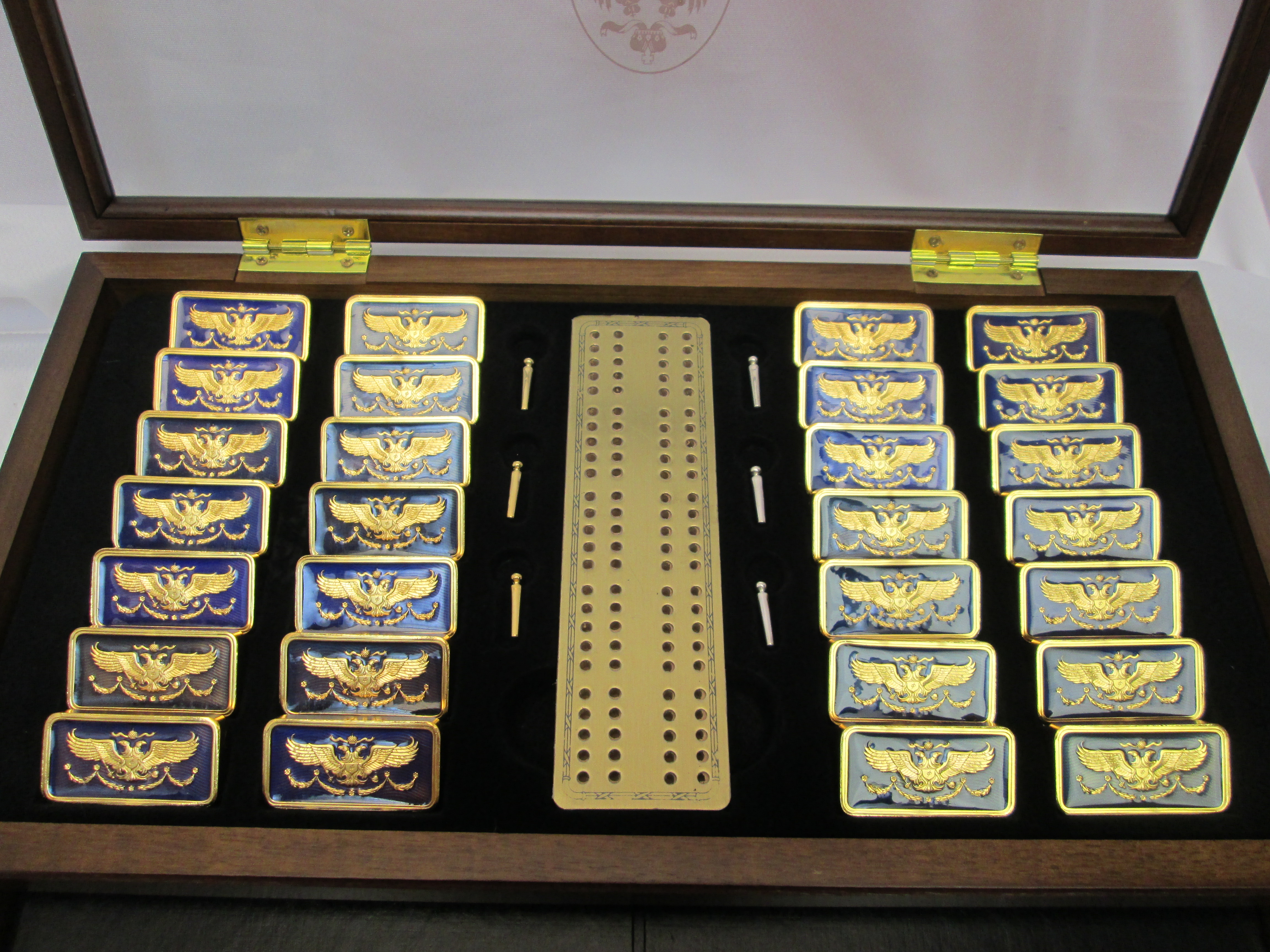 House Of Faberge Imperial 36 Piece Dominoes Set With Case