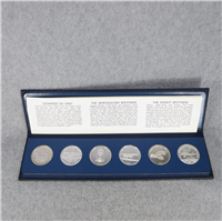 Milestones of Manned Flight Silver Medals Set (TWA, 1969)