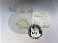 Shawnee Nation Lewis & Clark & Drouillard One Dollar Silver Proof Coin (U.S. Mint, 2002)