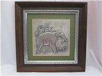 THE INDIAN ELEPHANT by Donald Richard Miller Silver Wall Sculpture  (Franklin Mint, 1977)