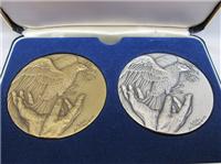 Richard M. Nixon Journey For Peace Medals Set  (Danbury Mint, 1972)