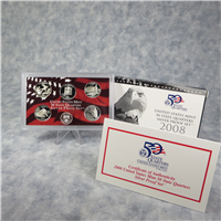 5 Coins 50 State Quarters Silver Proof Set with Box & COA  (U.S. Mint, 2008)