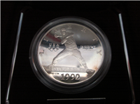Olympic 90% Silver Dollar Proof in Box with COA    (US Mint, 1992 S)