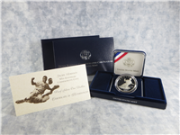 Jackie Robinson 50th Anniversary Silver Proof Dollar with Box & COA   (US Mint, 1997)