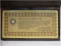 The Official Two Dollar Bicentennial Commemorative Bill  (Franklin Mint, 1976)