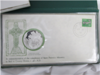 St. Patrick's Day Irish Silver Medal and First Day Cover (Franklin Mint, 1978)