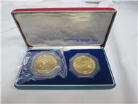 HARRY S. TRUMAN & LYNDON B. JOHNSON Silver w/ 24K Gold Electroplate Proof Set (INA, 1972-73)