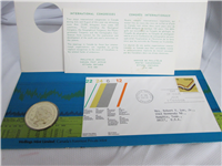 International Congress - Earth Sciences Medallic Cover  (Wellings Mint, 1972)