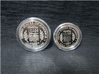 1994S World Cup Commemorative 90% Silver Dollar & Half Dollar Proofs with Box and COA   (US Mint, 1994)