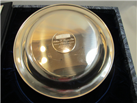 White House Historical William H. Harrison Presidential Sterling Silver Plate  (Franklin Mint, 1974)