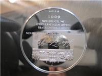 White House Historical John Tyler Presidential Sterling Silver Plate  (Franklin Mint, 1974)