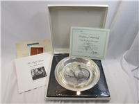 National Audubon Society's James Fenwick Lansdowne  'Ruffed Grouse' Sterling Silver Plate  (Franklin Mint, 1973)