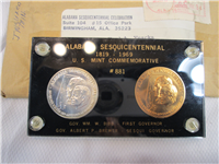 ALABAMA SESQUICENTENNIAL 1819 - 1969 U. S. Mint Commemorative Medal Set
