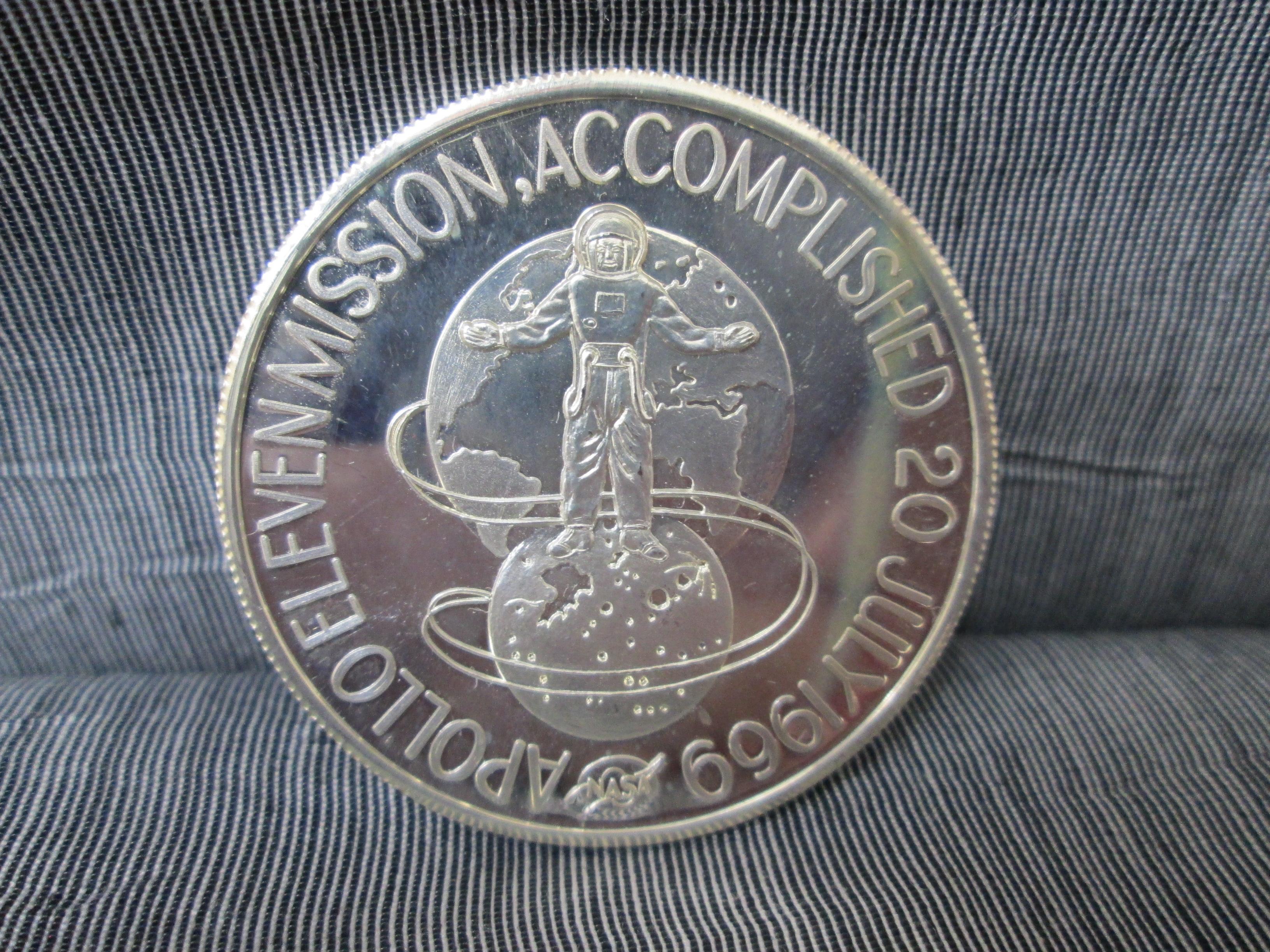 silver medallion apollo 11 coin - photo #47