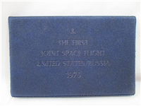 USA-Russia Joint Space Flight 14KT Gold Medal  (Danbury Mint, 1975)