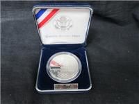 Salt Lake Olympic Winter Games Silver Dollar Proof + Box & COA  (US Mint, 2002P)