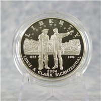 Lewis and Clark Bicentennial Silver Dollar Proof + Box & COA (US Mint, 2004-P)