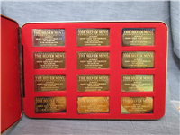The Last Major Silver Producing Nations Gold on Silver Ingots Collection  (Silver Mint)