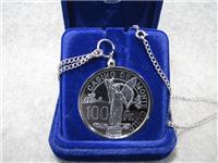 Official Casino de Monte Carlo 100 Franc Silver Chip (Franklin Mint, 1977)