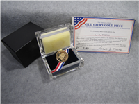 Old Glory American Flag 200th Anniversary 14 KT Gold Medal (Danbury Mint, 1977)