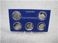 ALABAMA STATEHOOD SESQUICENTENNIAL 1819 - 1969 U. S. Mint Commemorative Medal Set