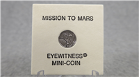 Mission To Mars Commemorative Eyewitness Platinum Mini-Coin    (Franklin Mint, 1976)
