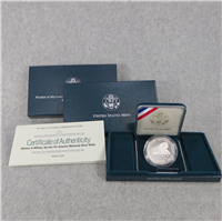Women In Military Service Silver Dollar Proof with Box + COA (US Mint, 1994)