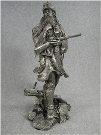 Jim Ponter's THE FUR TRAPPER Pewter Westerners Series Sculpture (Franklin Mint, 1981)