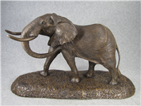 "Robert Glen's GIANT OF THE AFRICAN PLAINS 8""x14"" Bronze Sculpture (East African Wildlife Society, 1983)"