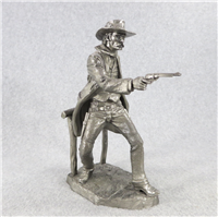 Jim Ponter's THE GUNFIGHTER Pewter Westerners Series Sculpture (Franklin Mint, 1979)
