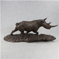 "Robert Glen's THUNDER OF THE CONGO 6.5""x15"" Bronze Sculpture (East African Wildlife Society, 1984)"