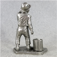 """FRONTIER CHILDREN 3.75"""" Fine Pewter People of Old West Series Statue (American Sculpture Society, 1976)"""