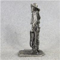 "THE COWBOY 4.25"" Fine Pewter People of Old West Series Statue (American Sculpture Society, 1976)"