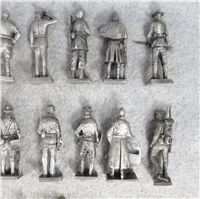 THE AMERICAN MILITARY SCULPTURE COLLECTION Fine Pewter 2-1/2 inch Statues (Franklin Mint, 1977)