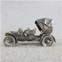 1904 MERCEDES SIMPLEX World-Famous Sterling Silver Vintage Car Replica (Franklin Mint, Silver Car Miniatures Collection, 1977)