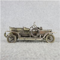 1907 ROLLS-ROYCE World-Famous Sterling Silver Vintage Car Replica (Franklin Mint, Silver Car Miniatures Collection, 1977)