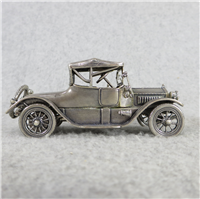 1912 HISPANO-SUIZA World-Famous Sterling Silver Vintage Car Replica (Franklin Mint, Silver Car Miniatures Collection, 1977)