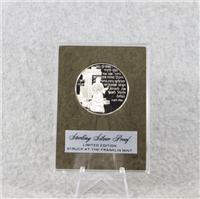 'Hanukkah Prayer' Holiday Silver Proof Medal (Franklin Mint, 1974)