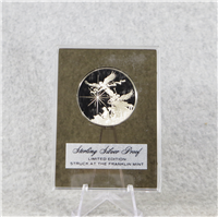 Christmas 'The Nativity' Holiday Silver Proof Medal (Franklin Mint, 1973)