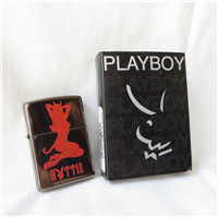 PLAYBOY HOTTIE Black Ice Lighter (Zippo, 20879, 2004)