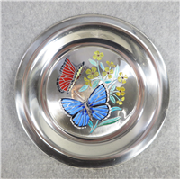 Butterflies of the World EUROPE Limoges Enamel on Sterling Silver 8 inch Plate (Franklin Mint, 1978)