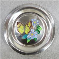 Butterflies of the World ASIA Limoges Enamel on Sterling Silver 8 inch Plate (Franklin Mint, 1978)