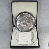 'Uncle Sam - Arsenal of Democracy' by N. C. Wyeth Limited Edition Sterling Silver Plate (Washington Mint, 1972)